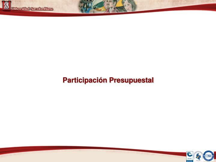 Participación Presupuestal
