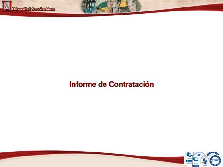 Informe de Contratación