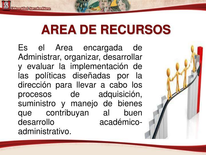 AREA DE RECURSOS