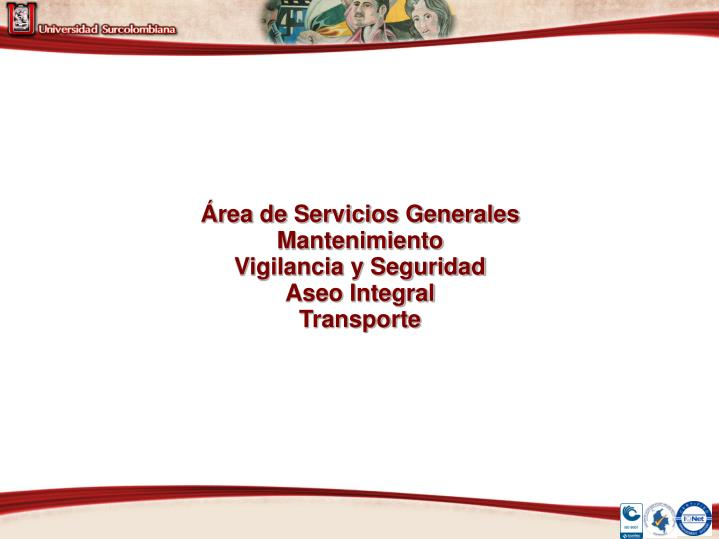 Área de Servicios Generales