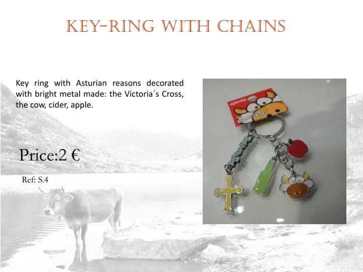 Key-ring with chains