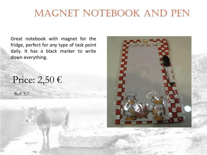 Magnet notebook and pen