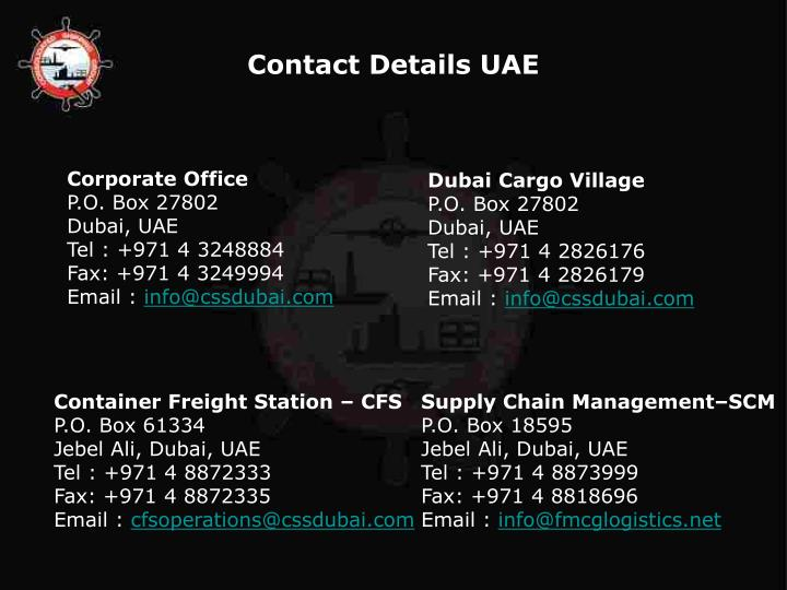 Contact Details UAE
