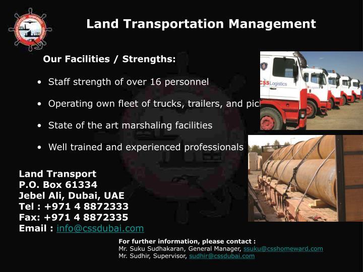 Land Transportation Management