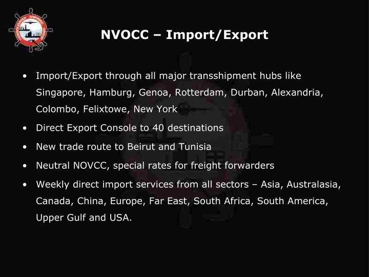 NVOCC – Import/Export
