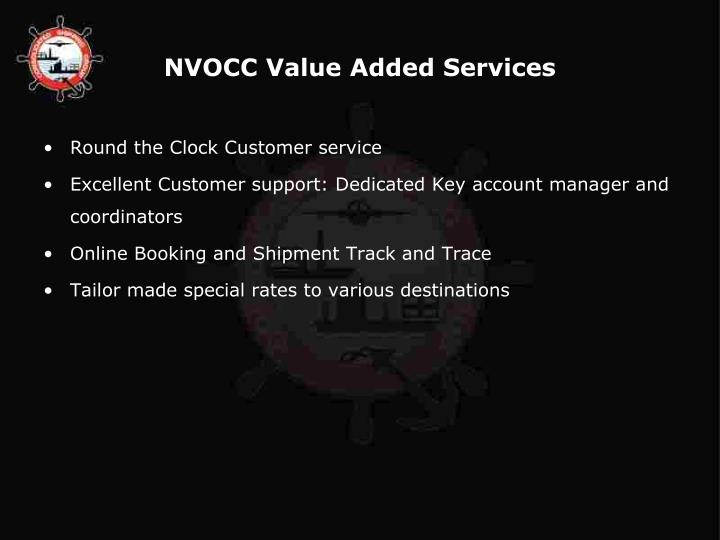 NVOCC Value Added Services