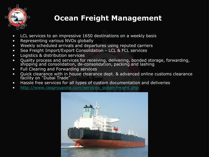 Ocean Freight Management