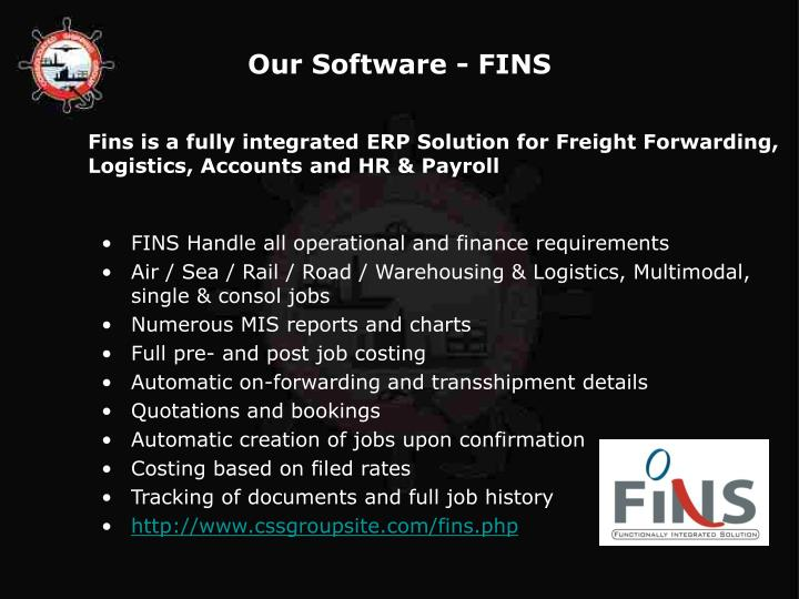 Our Software - FINS