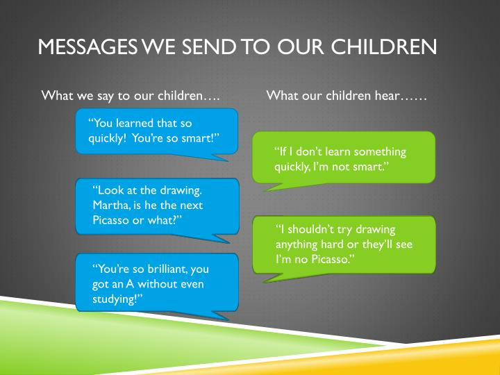 Messages we send to our children