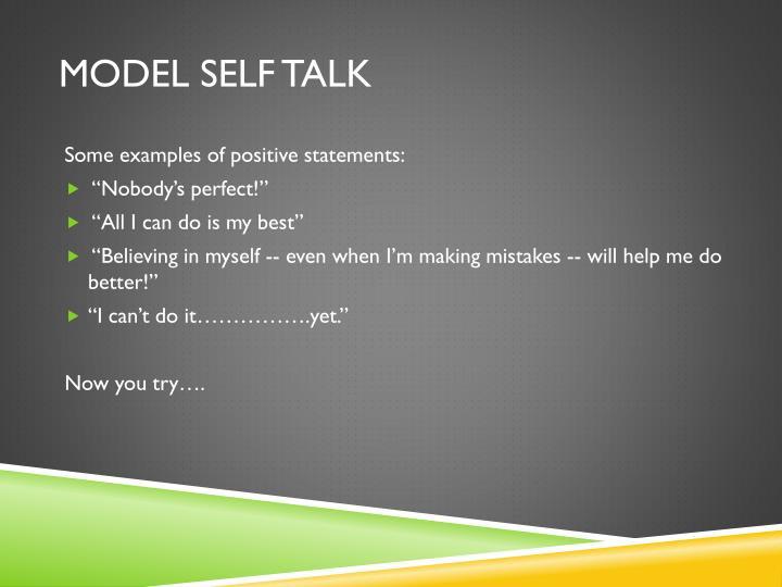 Model Self Talk