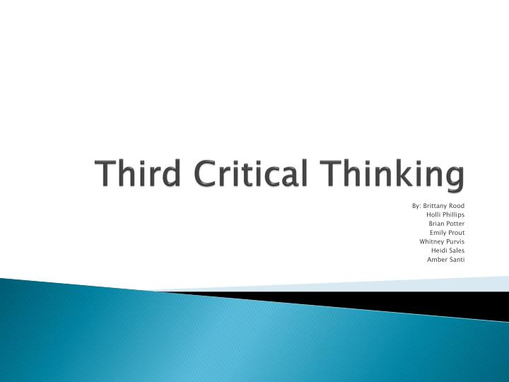 Third critical thinking