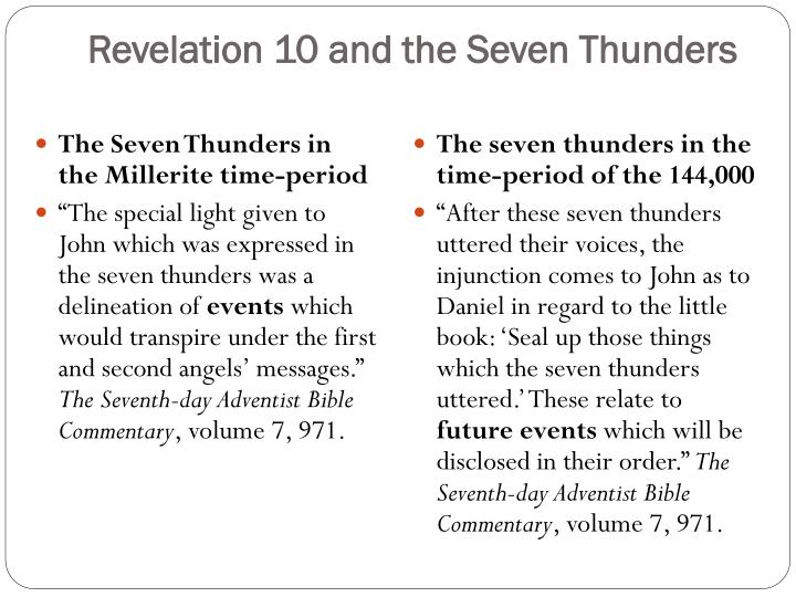 Revelation 10 and the Seven Thunders