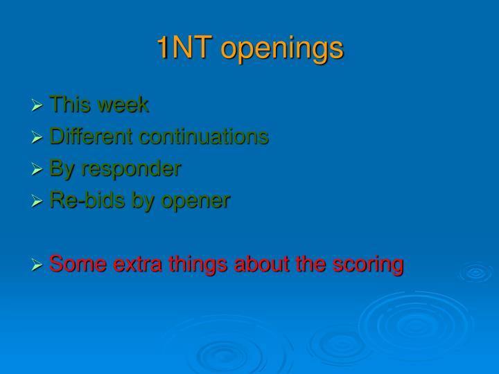 1NT openings