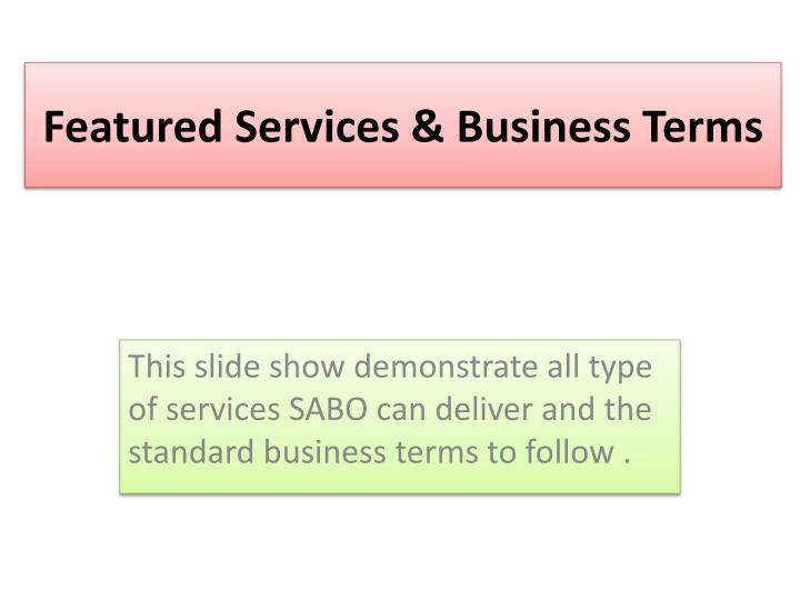 featured services business terms