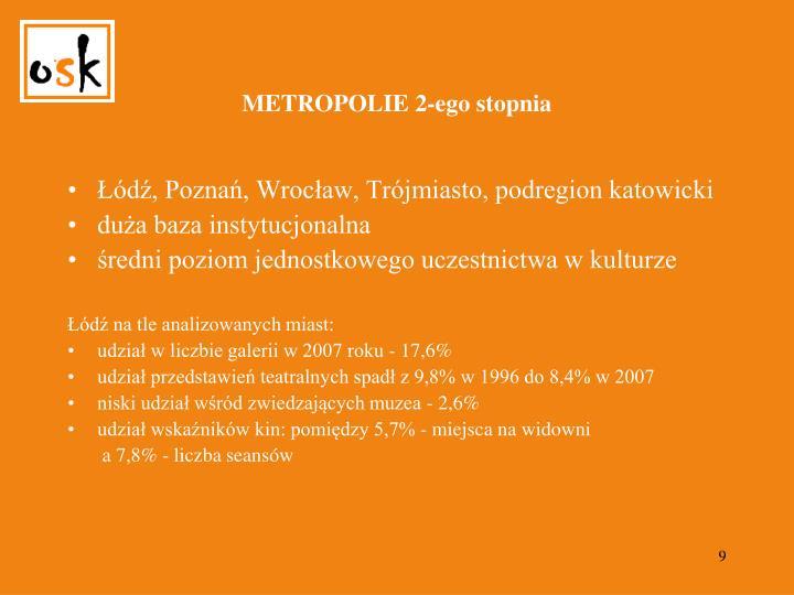 METROPOLIE 2-ego stopnia
