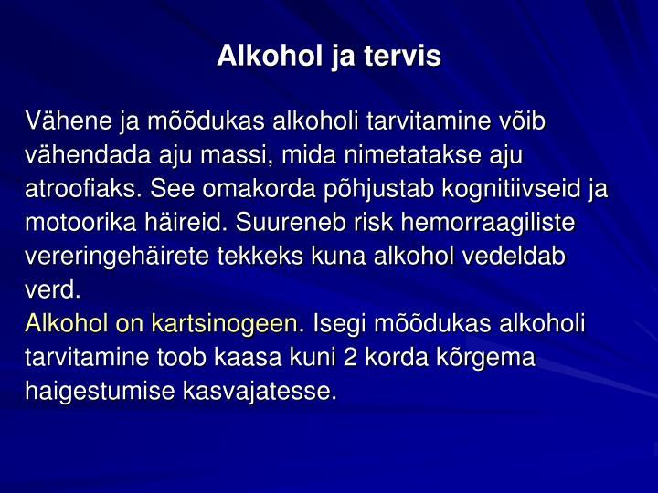 Alkohol ja tervis