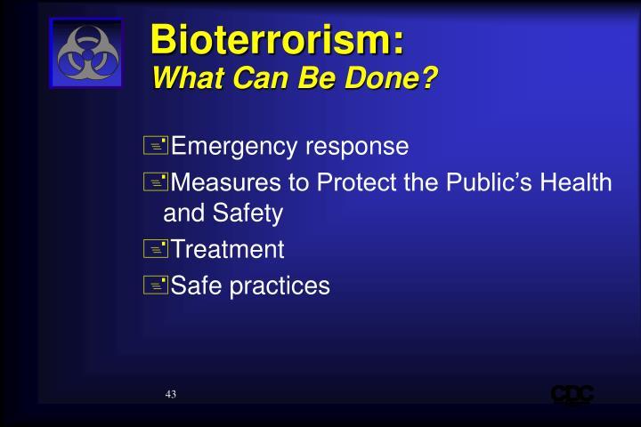 Bioterrorism: