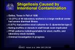 shigellosis caused by intentional contamination