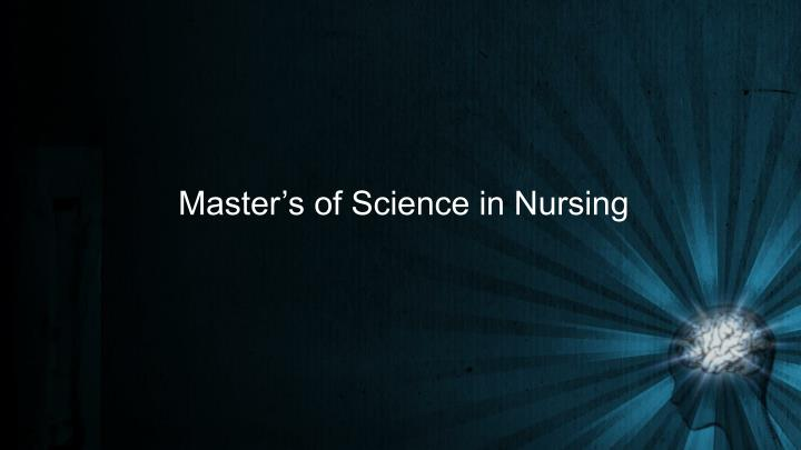 Master's of Science in Nursing