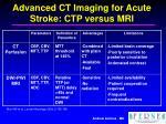 advanced ct imaging for acute stroke ctp versus mri