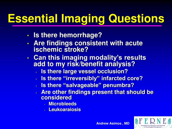 Essential Imaging Questions