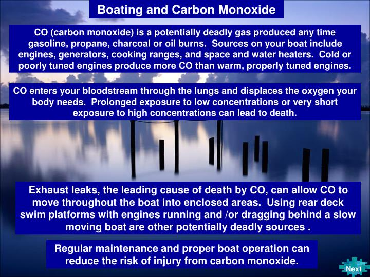 Boating and Carbon Monoxide