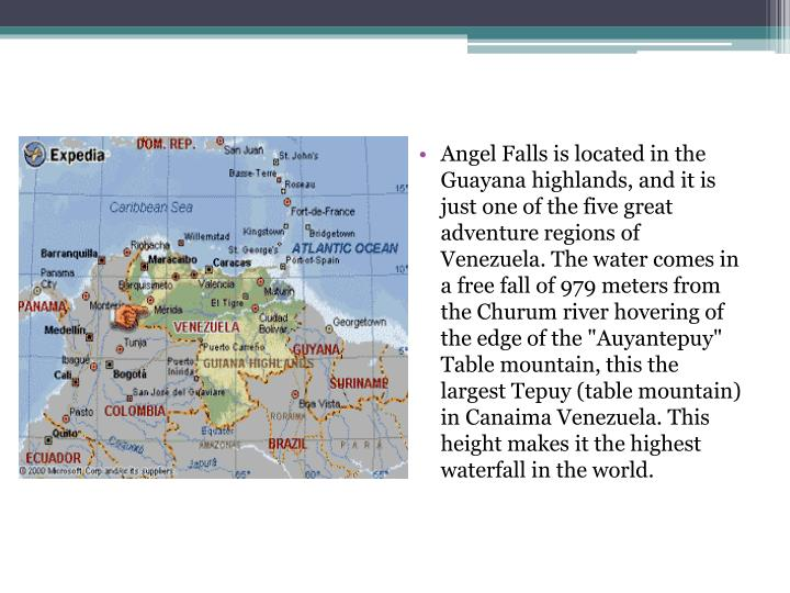 Angel Falls is located in the