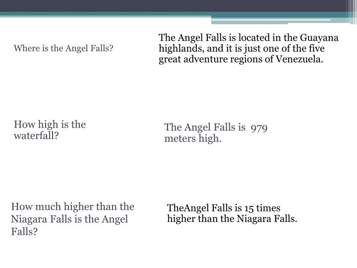 The Angel Falls is located in the