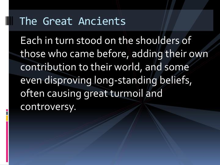 The great ancients1