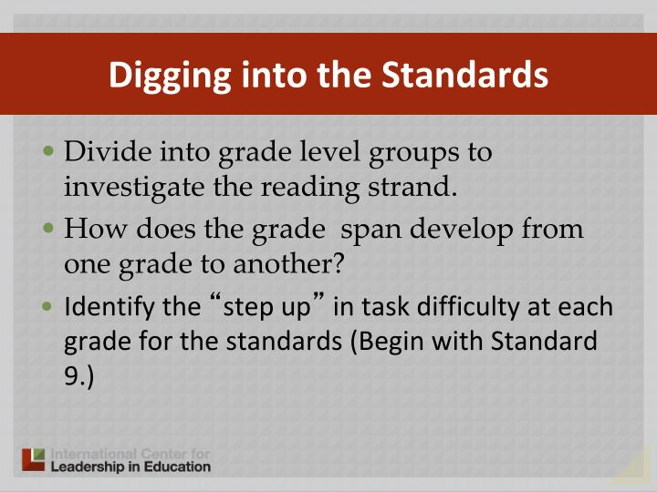 Digging into the Standards