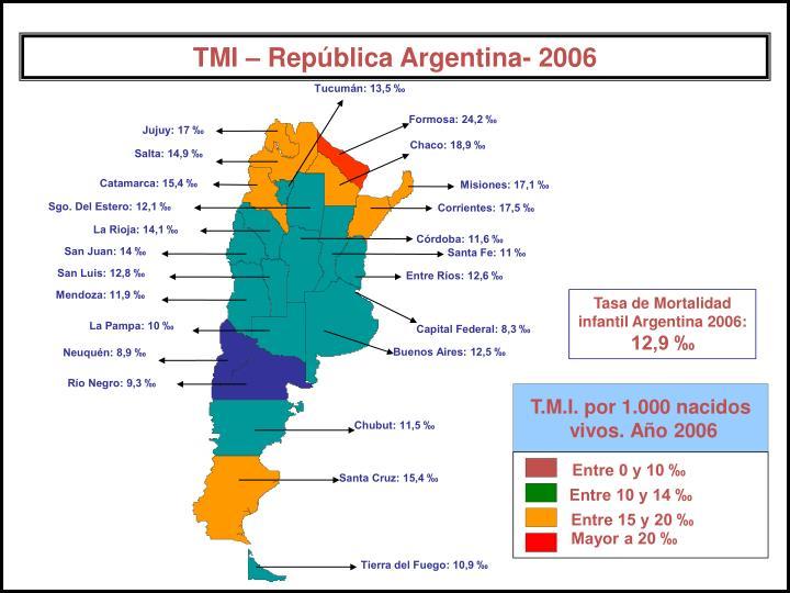 Tucumán: 13,5 ‰