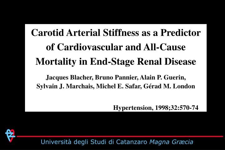 Carotid Arterial Stiffness as a Predictor of Cardiovascular and All-Cause Mortality in End-Stage Renal Disease