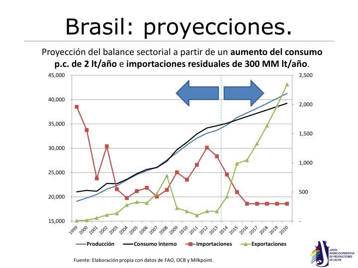 Brasil: proyecciones.