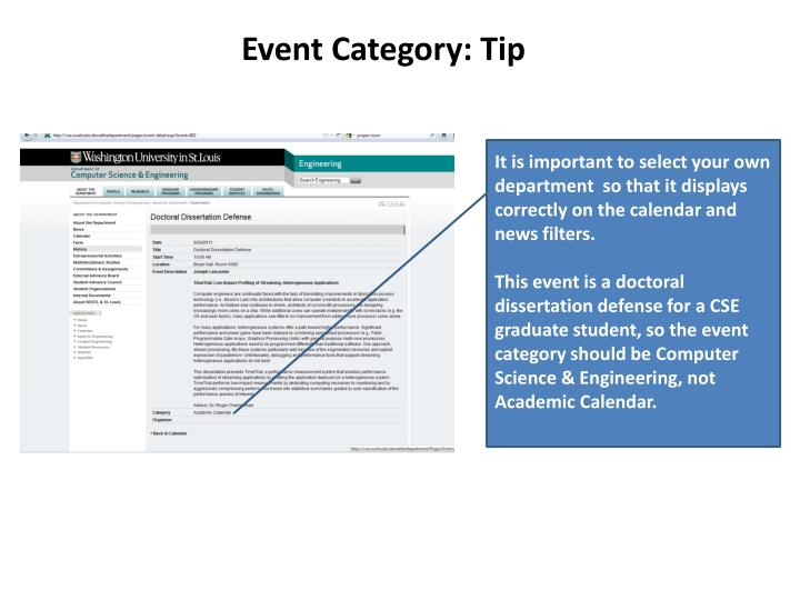 Event Category: Tip