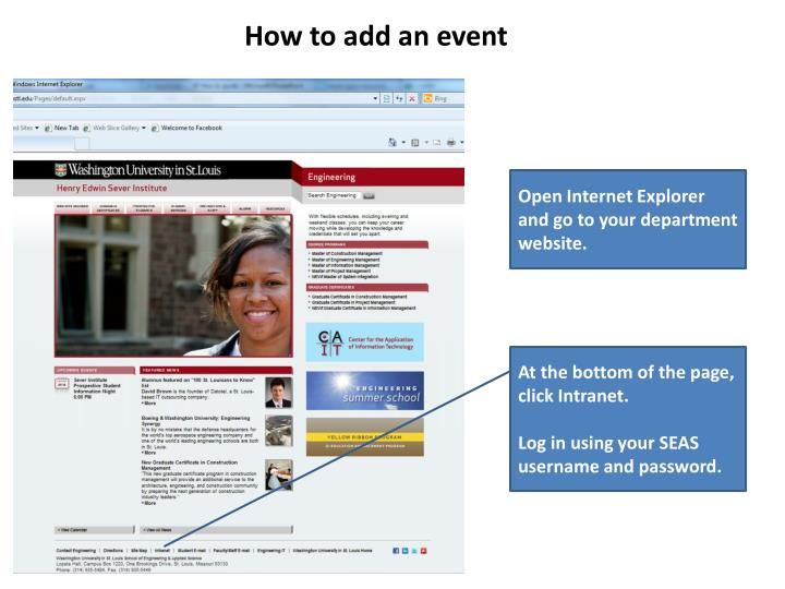 How to add an event
