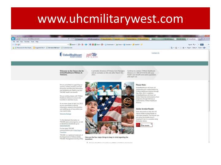 www.uhcmilitarywest.com