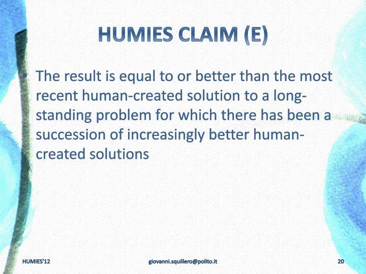 HUMIES
