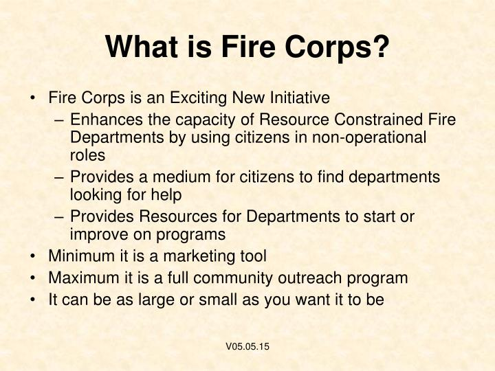 What is fire corps