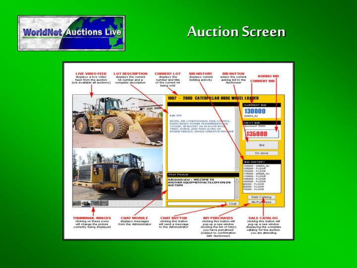 Auction Screen