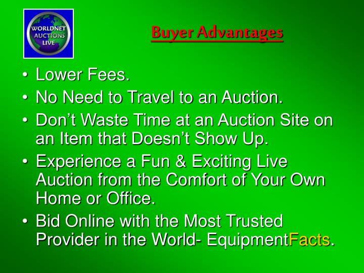 Buyer Advantages