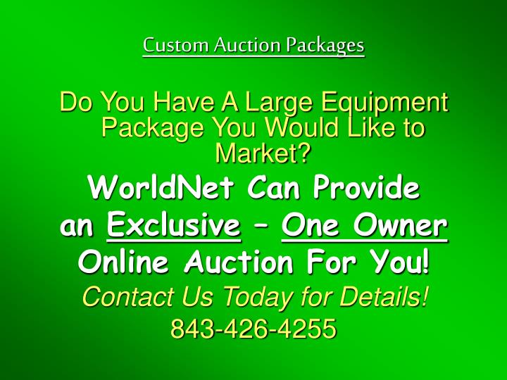 Custom Auction Packages