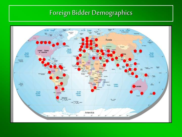 Foreign Bidder Demographics