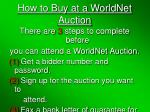 how to buy at a worldnet auction