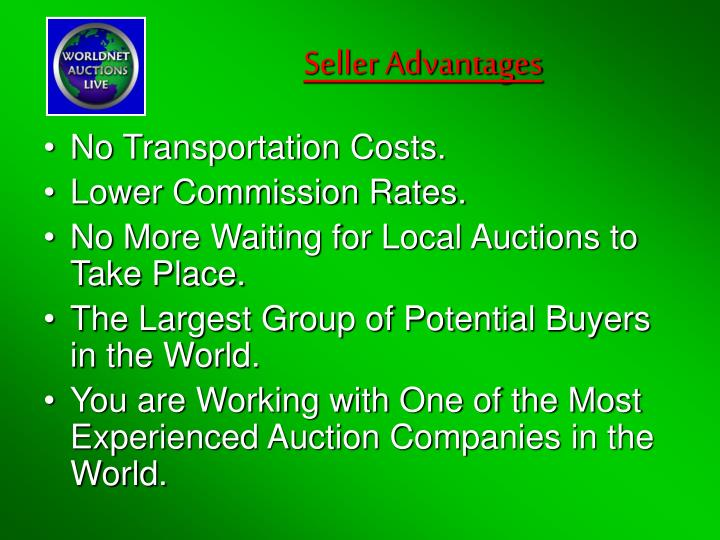 Seller Advantages