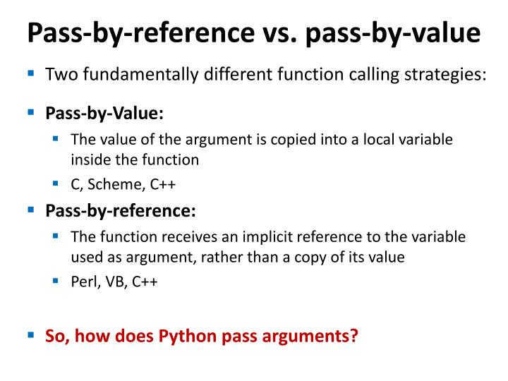 Pass-by-reference vs. pass-by-value