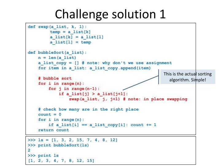 Challenge solution 1