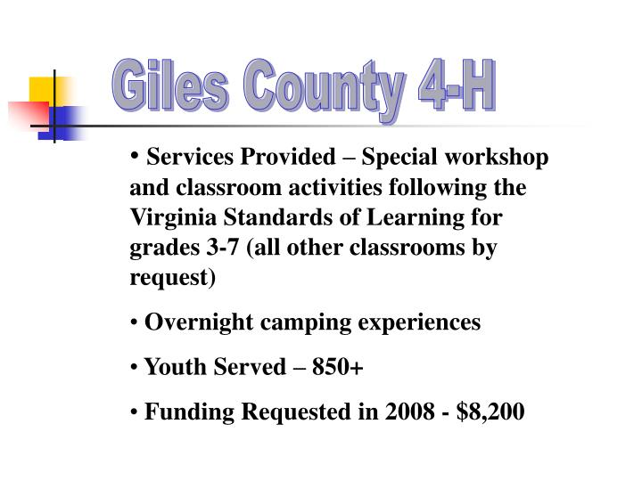 Giles County 4-H