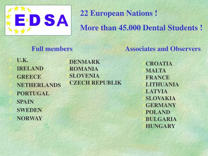 22 European Nations !