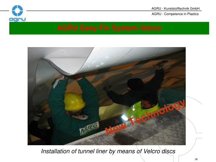 AGRU Easy-Fix System-Velcro