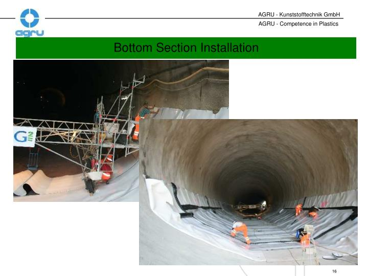 Bottom Section Installation